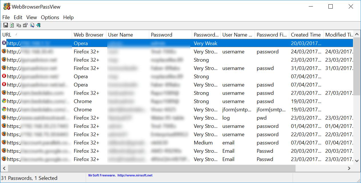 WebBrowserPass Tool