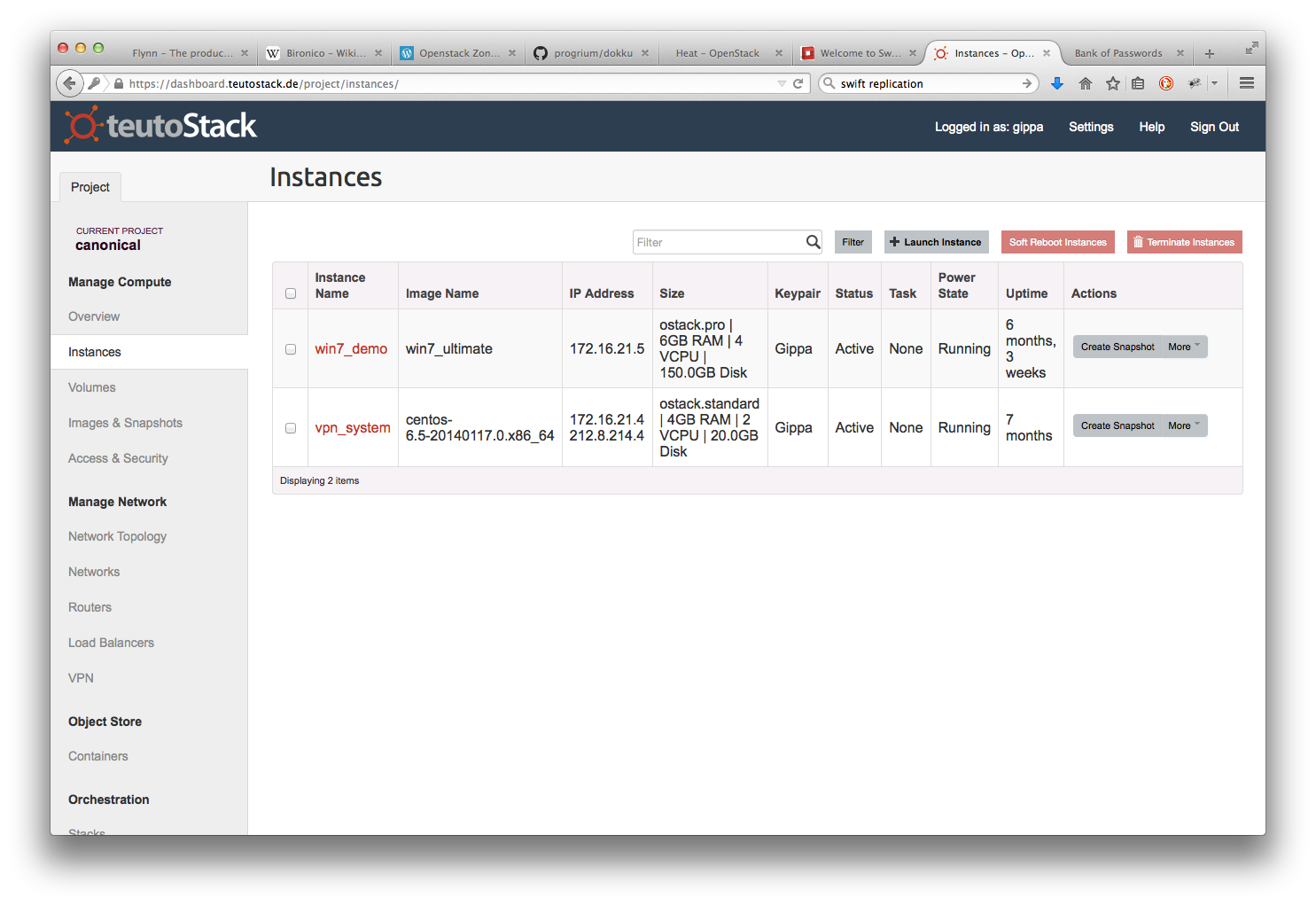 openstack horizon dashboard