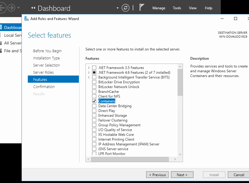 server2016 containers