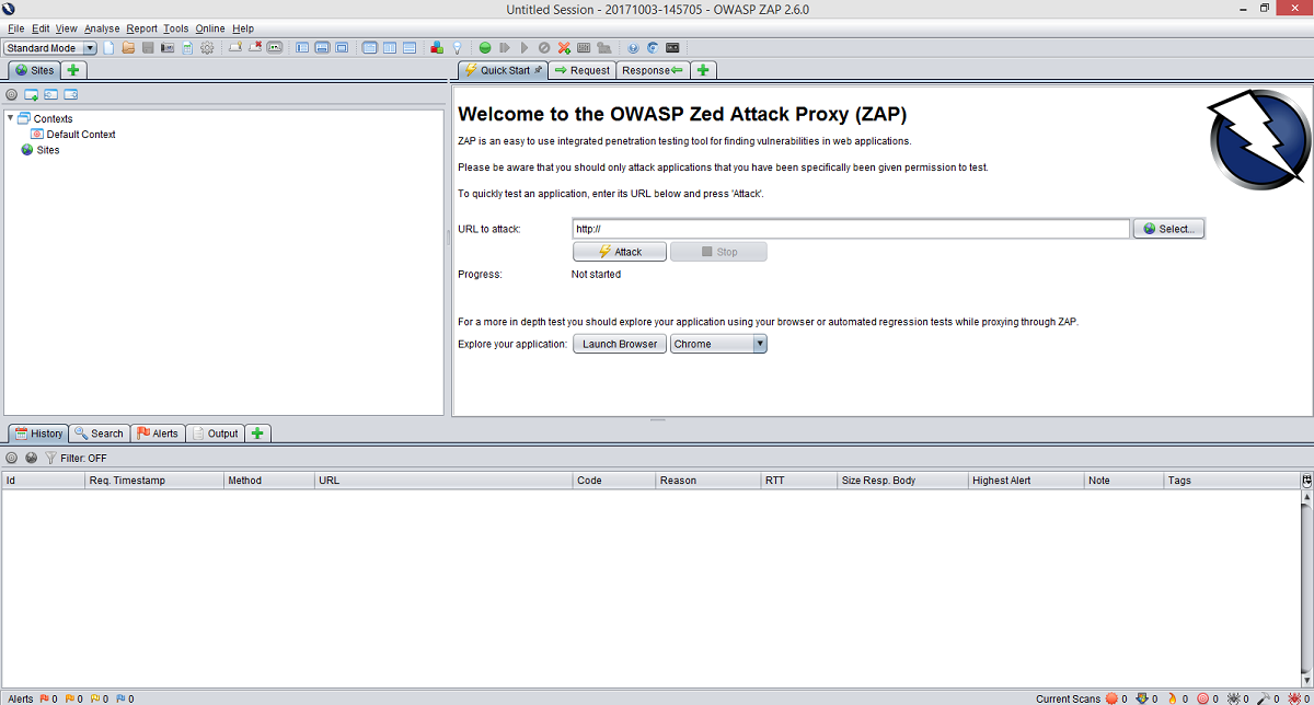 owasp zap interfaccia