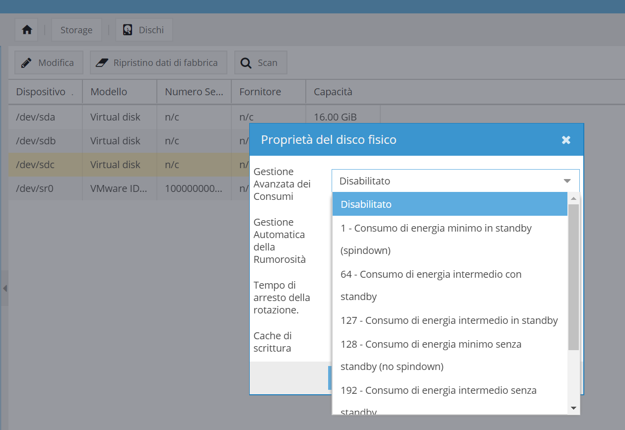 omv disk powermanager