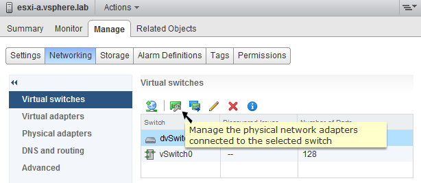 vsphere distributed vswitch gestione uplink web client 1