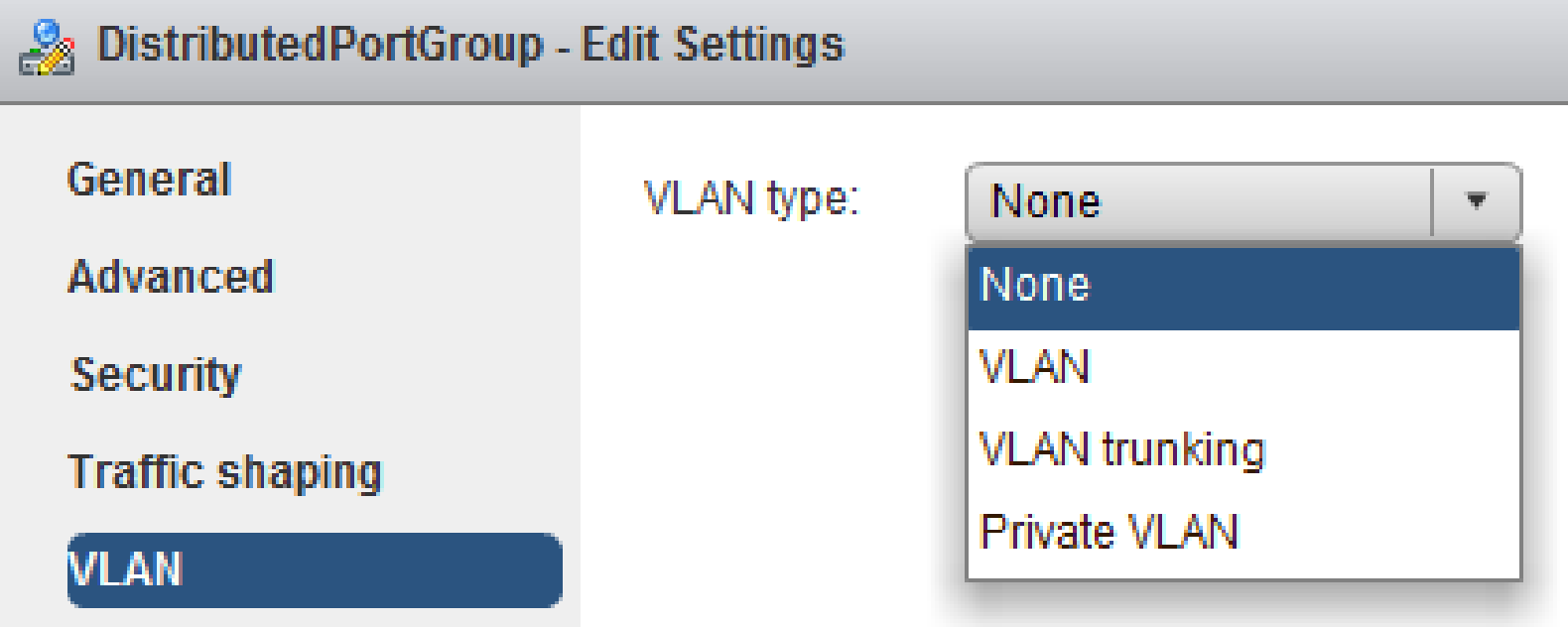vsphere distributed vswitch gestione vlan web client