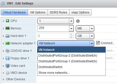 vsphere distributed vswitch vm web client 1