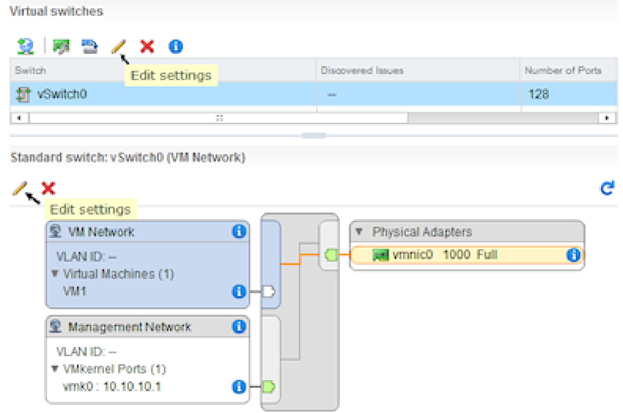 vsphere standard virtual switch teaming failover web client 1